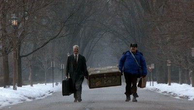 john cand and steve martin walking home for the holidays.