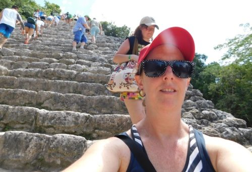 This is how far i got climbing the pyramid at coba