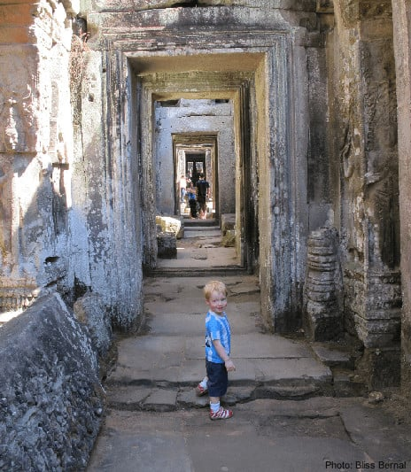 Kids can explore preah kahn  temple relatively freely and safely