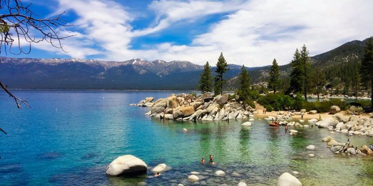 Lake tahoe is warm enough to swim in in summer, just about.