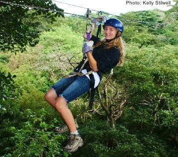 teens will love jungle canopy zip-lining in Costa Rica