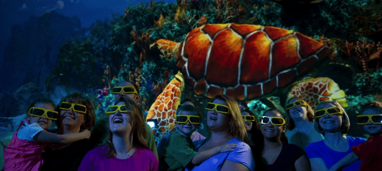 the movies experience at SeaWorld Turtle Trek