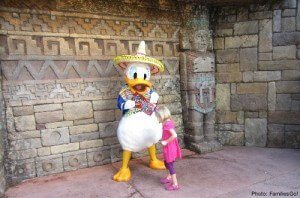 meeting donald duck at Epcot Center, Disney World