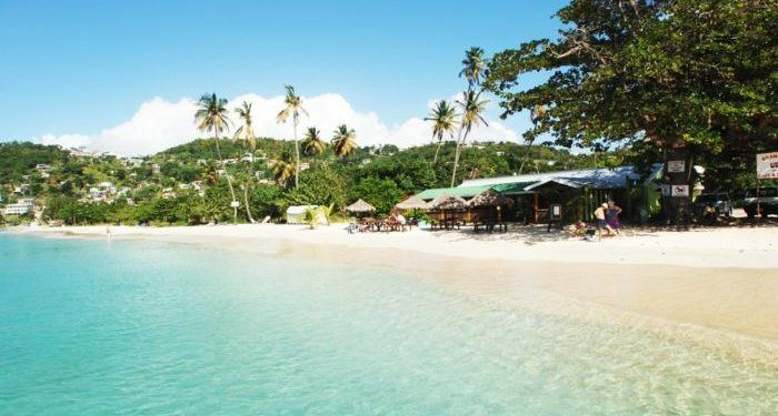 Grande anse beach in grenada