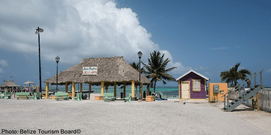 ambergris caye has nice beaches