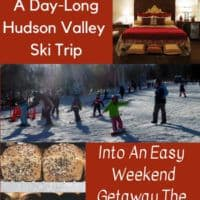 Skiing in the hudson valley is an easy winter weekend getaway with kids from nyc. Here is an itinerary that uses emerson resort as your base and belleayre as your ski mountain. #skiing #kids #hudsonvalley #belleayre