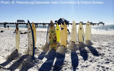 clearwater beach is near a Florida Aquarium