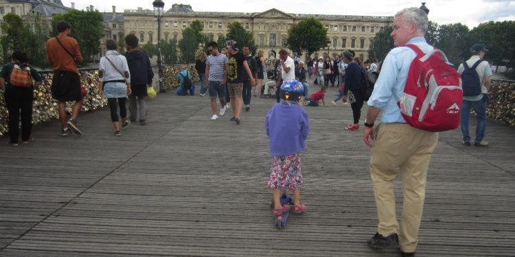 Kick scooters are handy in paris