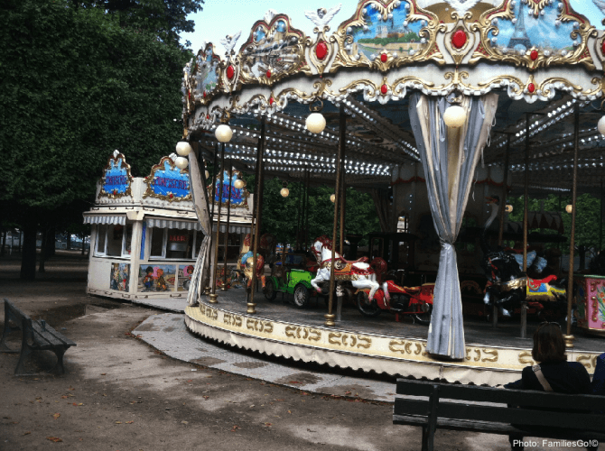 Paris Parks: the carousel at the Tuilleries Garden