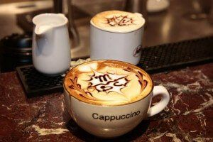 A European cappuccino on the MSC Divina