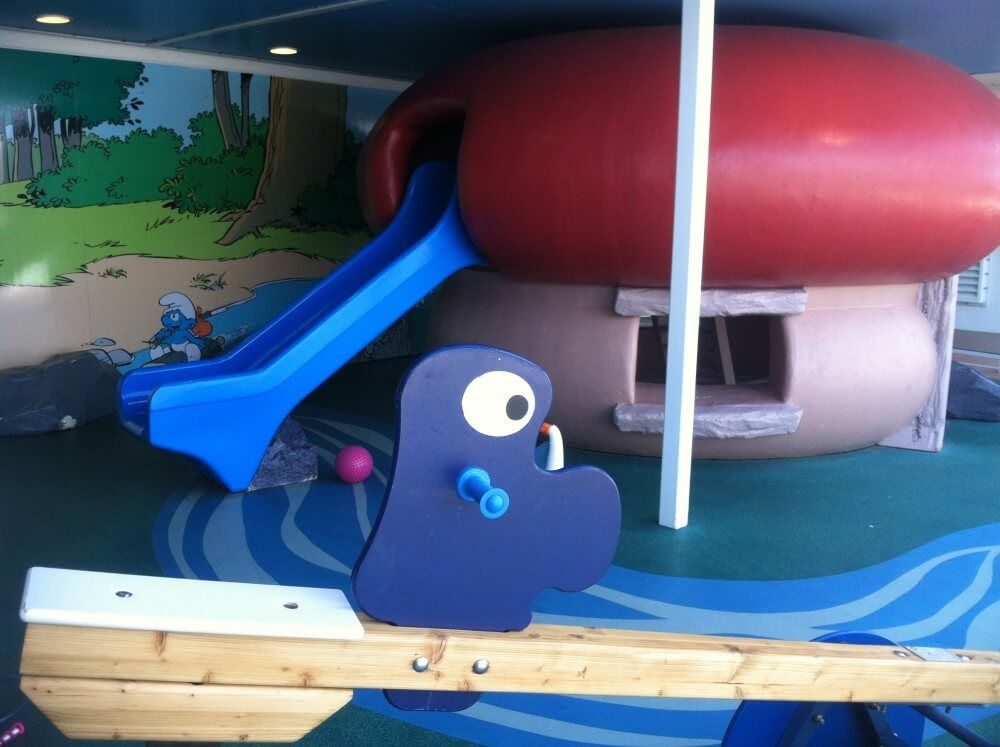 smurf themed play area on the MSC Divina