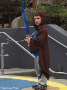 Jedi lesson at disney world