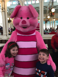 Meeting piglet at disney world