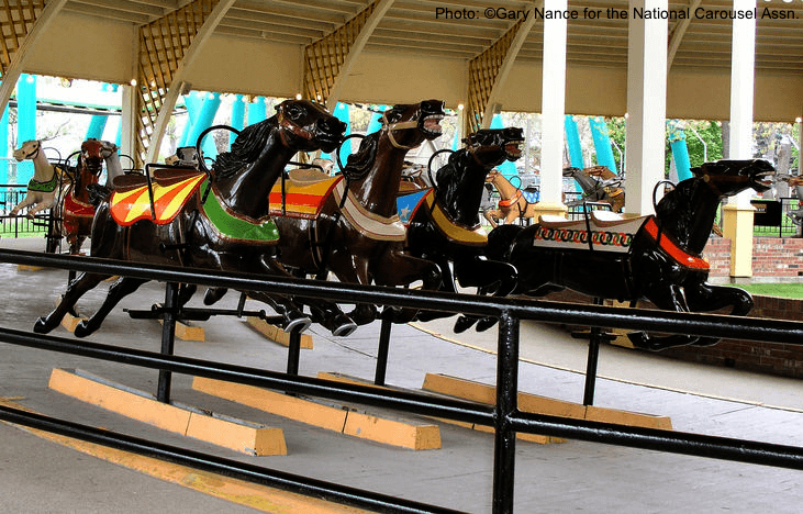 the racing carousel at cedar point
