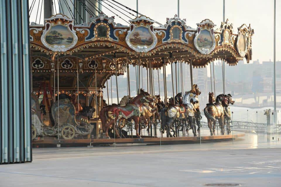 Janes carousel in DUMBO, Brooklyn, NY