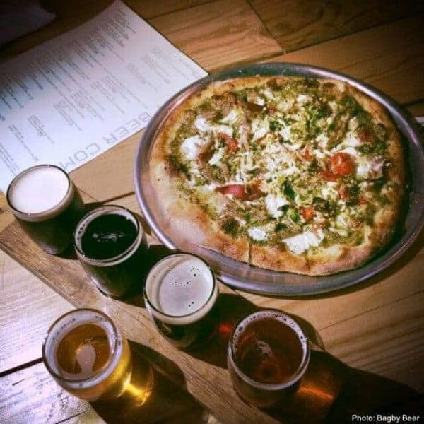 Bagby's gourmet pizza and beer outside of san diego