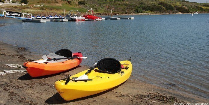 kayaking in Carlsbad, just outside of San Diego