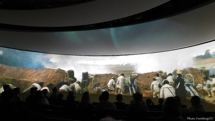 The 4d battle of yorktown at the museum of the american revolution there.