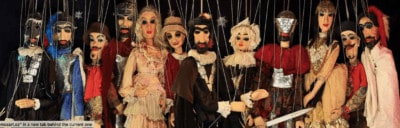 String puppets from the czech marionnette theatre