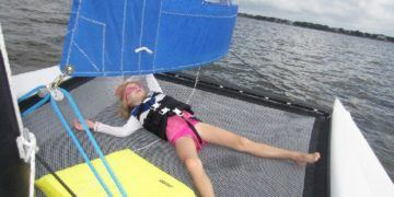 Napping on a hobie cat on the outer banks