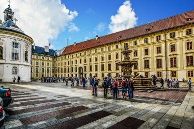 The courtyard of prague castle