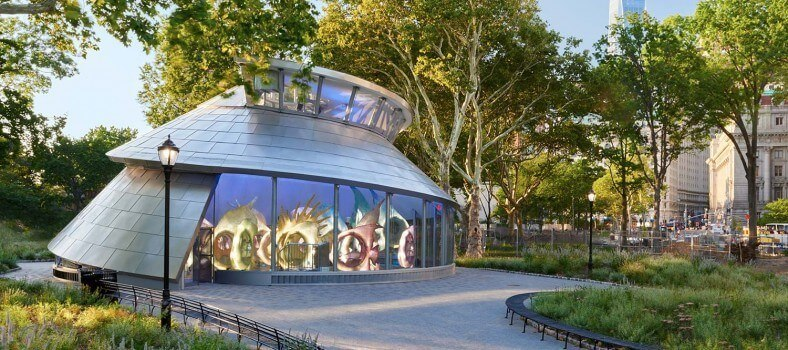 sea glass carousel at battery park, NYC