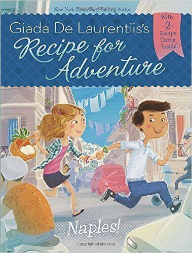 Kids travel book series by giada delaurentis features two kids around the world and includes recipes.