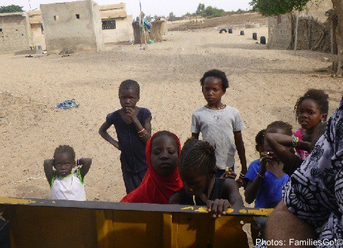 Curious kids in senegal, africa