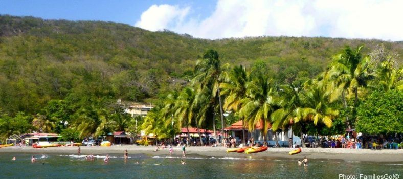 guadeloupe has rain forest and beaches