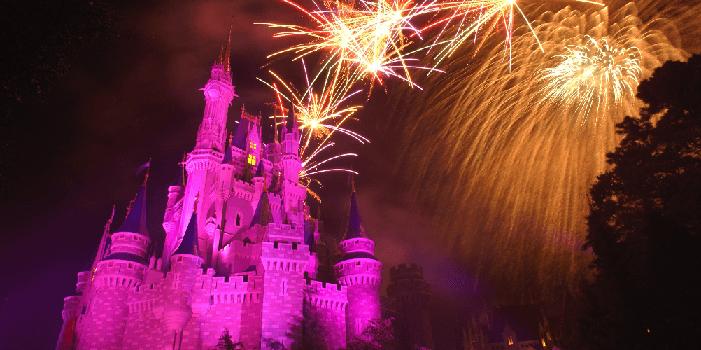 castle fireworks at Walt Disney World