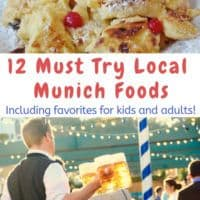 Munich folks are very proud of their local sweets, sausages and beers. Here are the best things to look for in beer hall and beer gardens, bakeries and the Viktualienmarkt. We inlude kid favorites, too. #munich #germany #food #local #vacation #kids