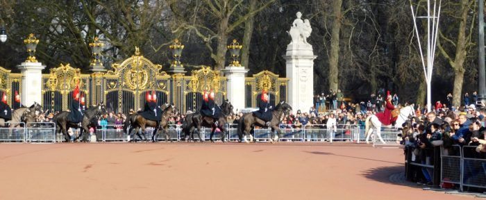 The horse guards of st. James and buckingham palaces