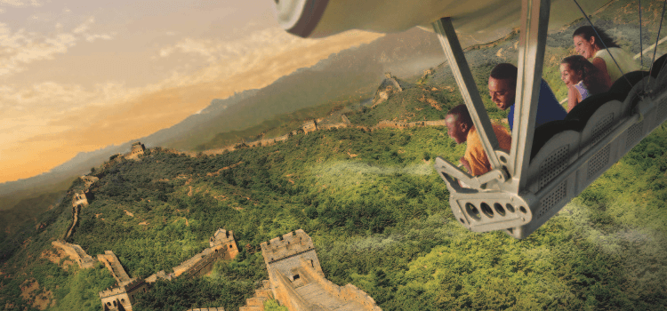 soaring around the globe at Disney's theme parks