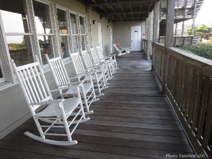 Rocking chairs at the sanderling resort
