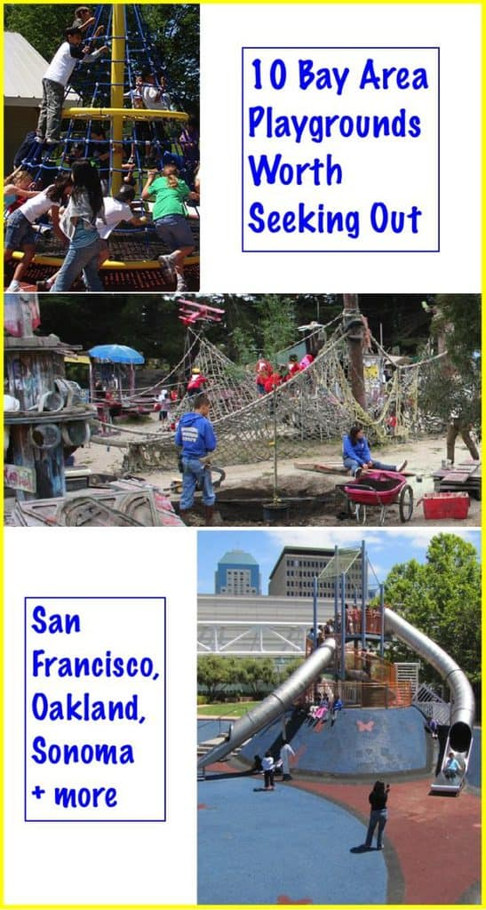 These day san francisco and bay area playgrounds are worth seeking out because of their unique features or great location for visiting families