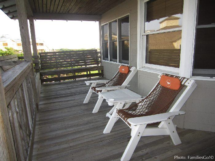 Our private porch at the sanderling hotel