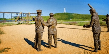 The wright brothers memorial in the outer banks