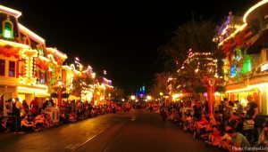 A disney holiday party lights up main street
