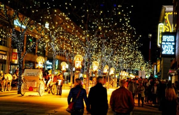 Denver becomes one big festive lights display during its grand illumination in december.