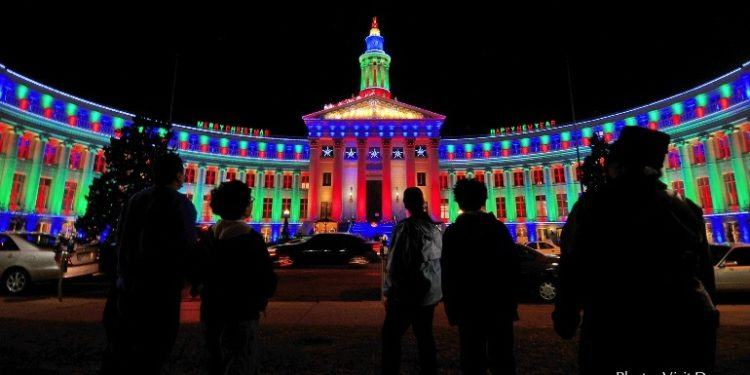 Denver lights up at the holidays