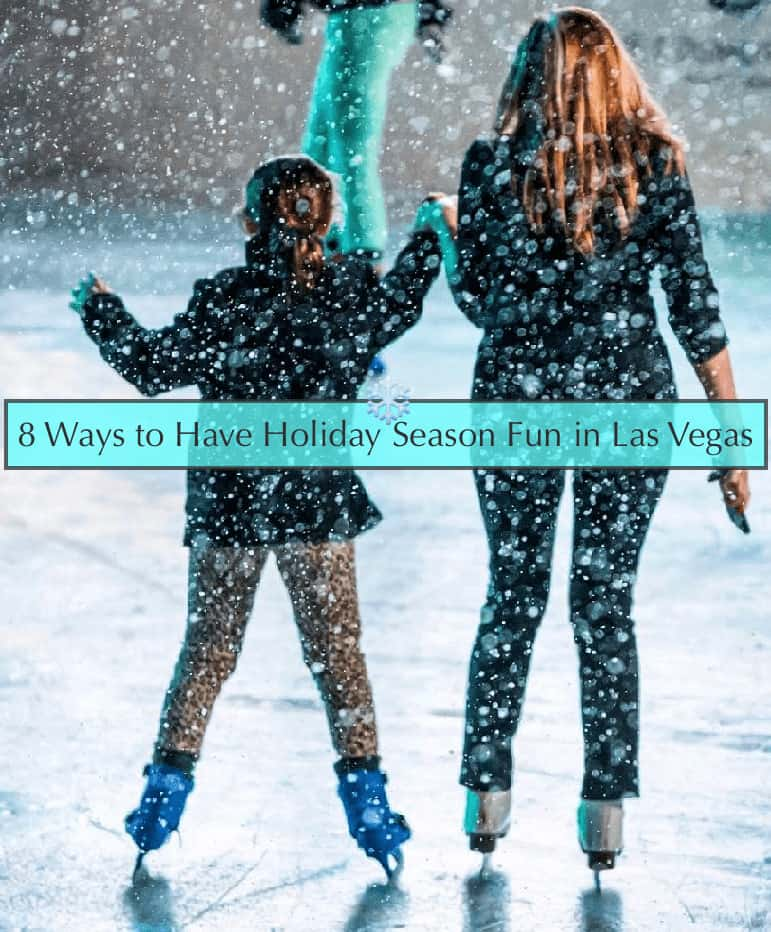 Las vegas offers lots of traditional fun for families in the holiday season. #lasvegas #christmas #newyear #kids #travelideas #thingstotdo #nevada #hotels #iceskating #santa