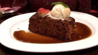 Sticky toffee pudding a the principal in edinburgh