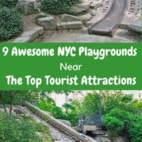 Nyc has great toddler and big kid playgrounds all over the city. This means it's easy to find one when you need a break from sightseeing. Here are 9 of the best for all ages. #nyc #nycwithkids #playgrounds #nycparks #vacation