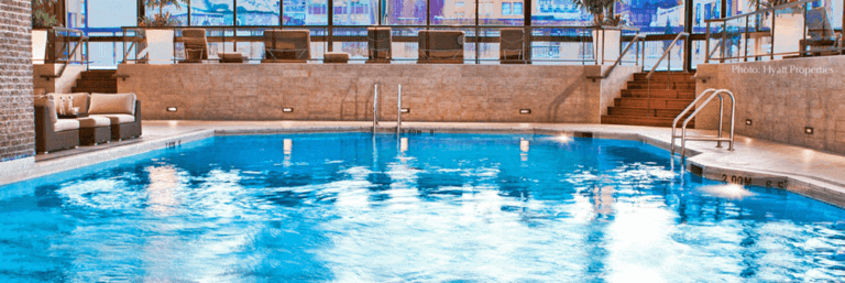 The hyatt regency montreal has a great, family friendly pool