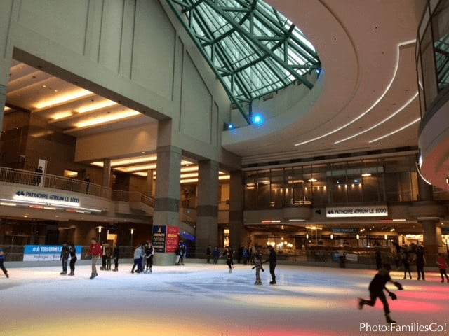 Ice skate indoors in montreal at atrium le 1000