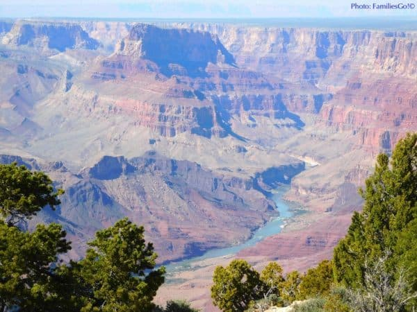 The colorado river from desert view overlook