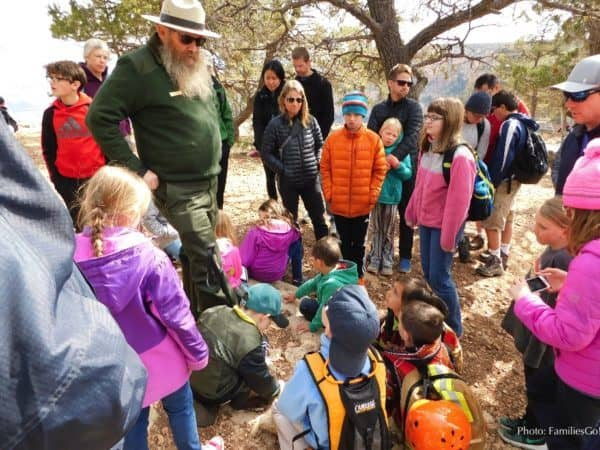 Kids love the park ranger walks at the grand canyon