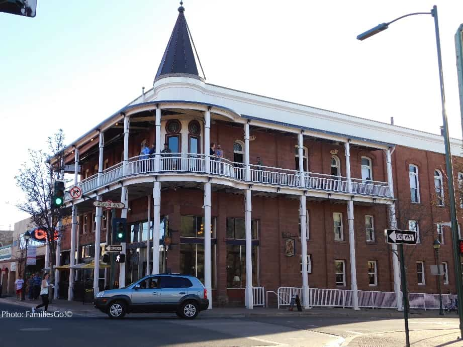 The Weathorford Hotel in Flagstaff has an Old West feel
