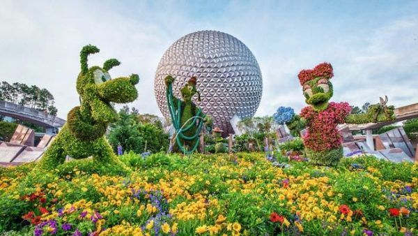 Epcot center goes green during its spring flower show