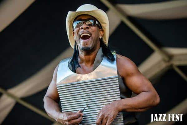 Zydeco at the new orleans jazz fest